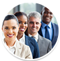 Group of Smiling Business People Icon