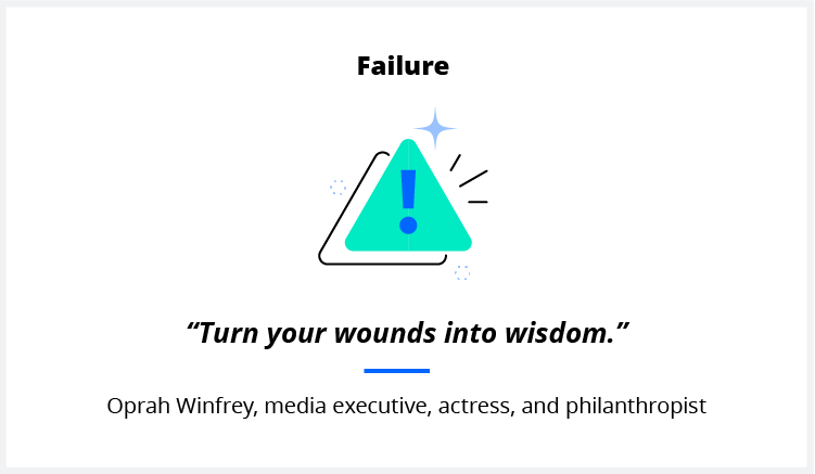 A quote on failure from media mogul Oprah