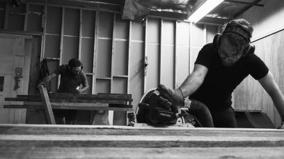 A Custom of Creative Bartering Helps Build Parkman Woodworks