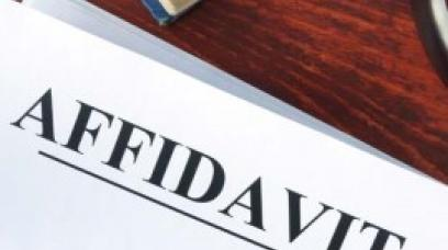 Using a California General Affidavit Form