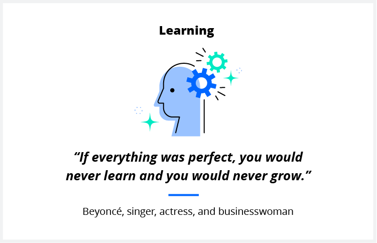 A quote on learning from superstar entertainer Beyoncé